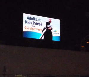 Digital Billboard As Seen From Front Yard of House Across Street