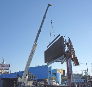 New digital billboard going up Oct. 29 at Westwood and Santa Monica Blvds.
