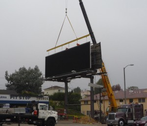 New Digital Billboard Being Erected On Lincoln Blvd. in Westchester on December 2.