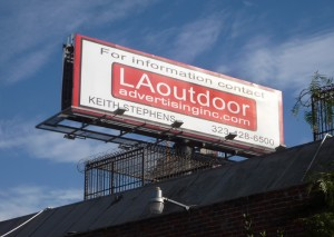 Billboard Illegally Erected Alongside 110 Freeway Last Year
