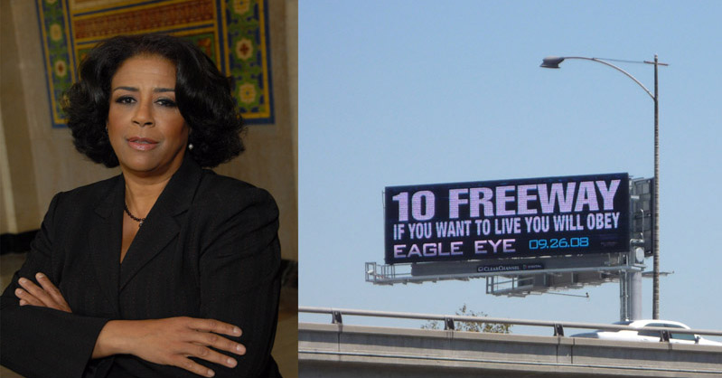 L.A. Councilwoman Jan Perry and Digital Billboard on MTA Bus Lot