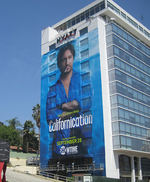 "Supergraphic Ad for ""Californication"""