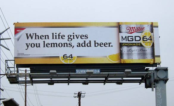 Alcohol Ads Alcohol Ads on Billboards by
