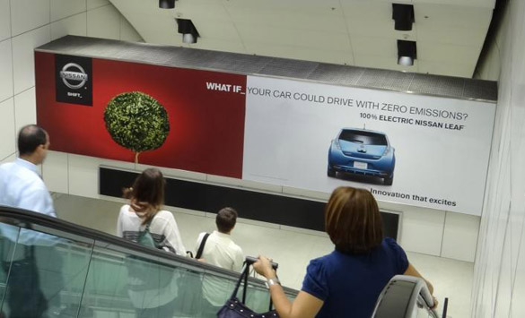 Advertisement at LAX terminal.  The airport advertising contract is held by JC Decaux, which spent $345,000 lobbying city officials last year.