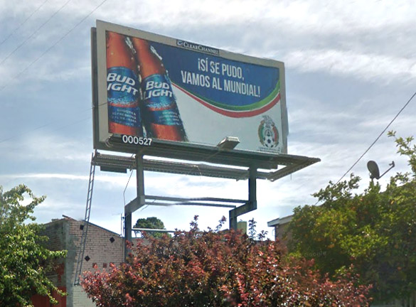 One of 744 non-permitted billboards in L.A.  On Glendale billboard in Echo Park area.