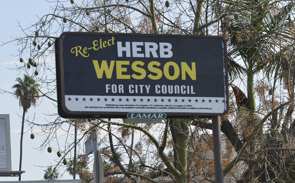 Lamar Advertising billboard for L.A. City Council President Herb Wesson