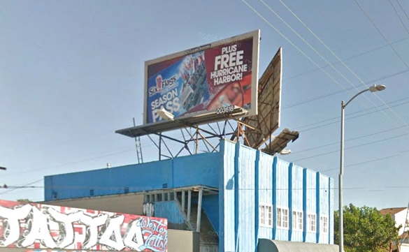 Clear Channel billboard on Western Ave. is one of 12 slated to run public services ads for the LAPD.