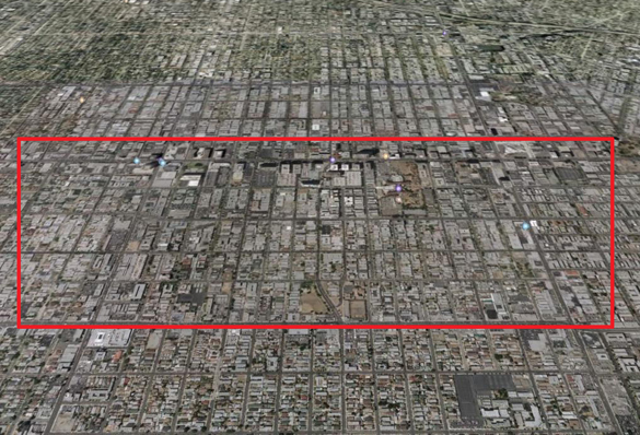 Approximate boundaries of sign district proposed for Koreatown area by City Councilman Herb Wesson. It is one of 11 proposed for exemption from new regulations restriction location and requiring billboard takedown.