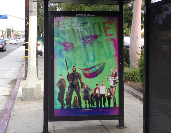 Failure to Get the Memo:  New L.A. Bus Shelter Ads With Guns